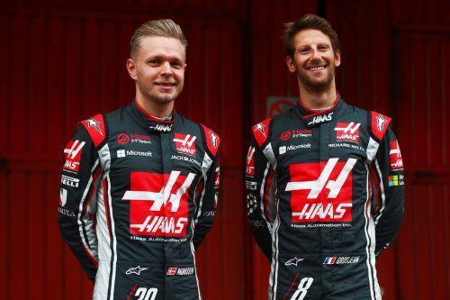 Verlassen mit Saisonende das Haas-Team: Kevin Magnussen und Romain Grosjean.gepa