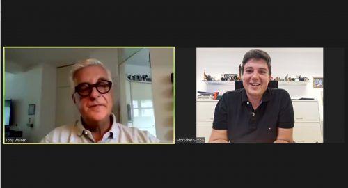 VN-Redakteur Tony Walser im Videogespräch mit Simon Morscher, der Werner Müller als Klauser Bürgermeister nachfolgt.Vn