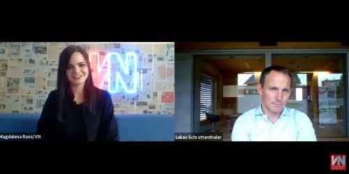 VN-Redakteurin Magdalena Raos im Gespräch mit Luaks Schrattenthaler. Trotz Coronakrise blickt er positiv in die Zukunft.Vn