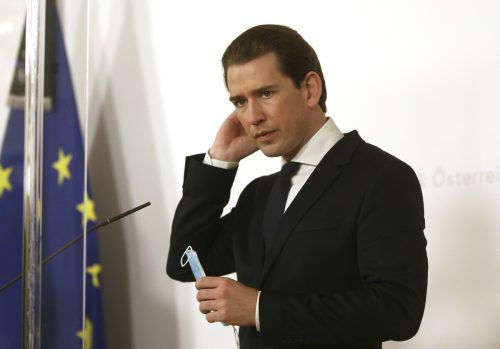 """Aktuelle Situation """"extrem ernst"""", sagte Kanzler Kurz als virtueller Gast beim Wirtschaftsforum. AP"""