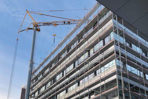Am Campus der FH Vorarlberg wird mehr Platz für die Studierenden geschaffen. Der Ausbau schreitet zügig voran. FH Vorarlberg