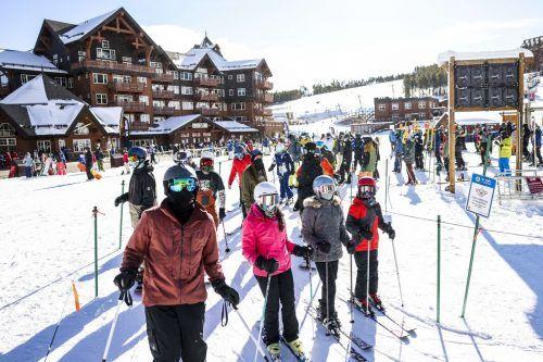 Ansteh-Kolonnen im Breckenridge Ski Resort in Colorado (USA). AFP