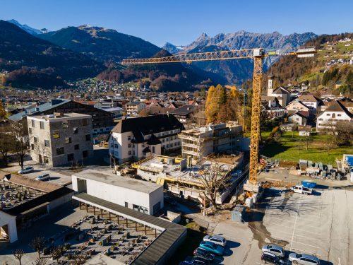 Auf der Pure-Schruns-Baustelle bei der Hochjochbahn herrscht seit Monaten Hochbetrieb.VN/Lerch