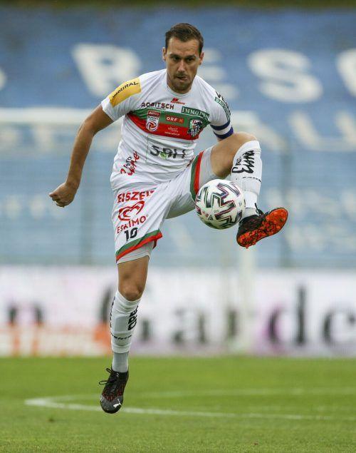 Beim letzten internationalen Auftritt erziele Michael Liendl drei Tore . Heute soll er Dinamo Zagreb das Fürchten lehren.gepa