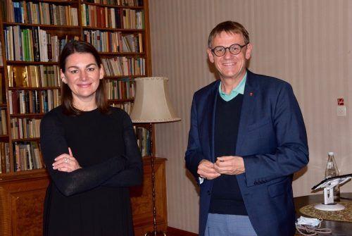 Bettina Steindl und Christoph Thoma tauschten sich über Perspektiven für die heimische Kulturszene aus.