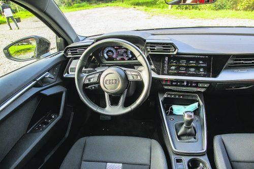 Breite Front, markante Lufteinlässe: optisch ist Audi beim A3 behutsam vorgegangen. In Summe ein prima Kompakt-Auto.VN/Steurer
