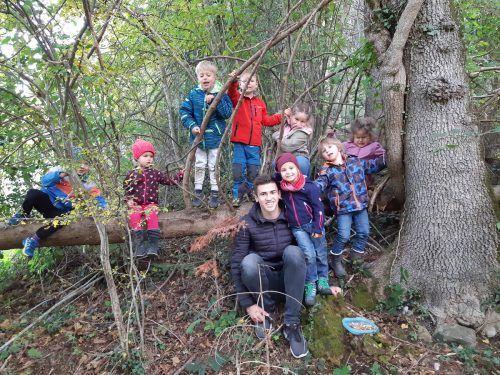 Daniel Müller genießt seine Zeit als Zivildiener im Kindergarten Thüringen.BI