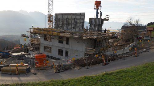 Das erste Mehrfamilienhaus in Dünserberg nimmt bereits Form an. Egle