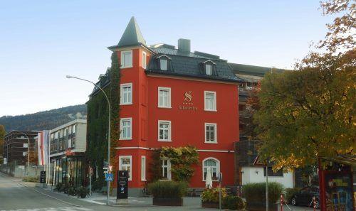 Das Hotel Schwärzler in Bregenz entstand zur Zeit der Entstehung des Wälderbahn.fst