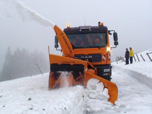 Das Land unterstützt Kleingemeinden bei der Schneeräumung. Land
