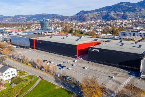 Das Messequartier am Stadteingang von Dornbirn entwickelt sich immer mehr zum Zentrum der Pandemiebekämpfung in Vorarlberg. vn/stiplovsek