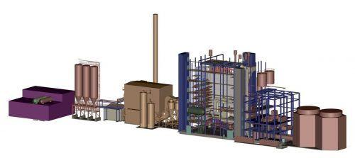 Das neue BERTSCHenergy Biomassekraftwerk in Belgien.