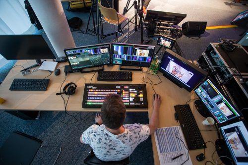 Das Team im VN-Studio sorgte für die professionelle Übertragung des Vorarlberger Wirtschaftsforums.