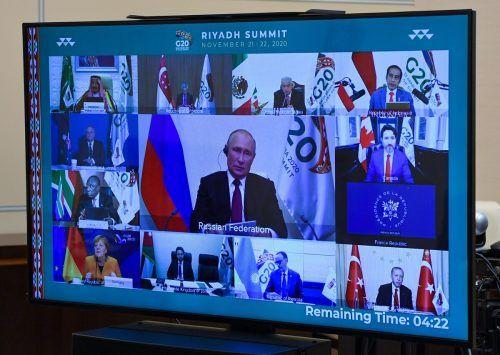 Das virtuelle Gipfeltreffen der Staats- und Regierungschefs der großen Industrie- und Schwellenländer endete am Sonntag.AFP
