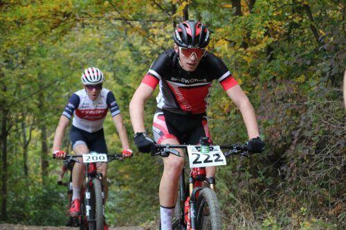 Der 17-jährige Übersaxner Julius Scherrer gewinnt sensationell die MTB Austriacup-Junioren-Gesamtwertung.VN/Knobel