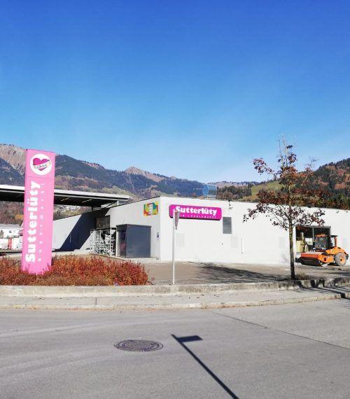 Der bestehende Sutterlütymarkt in Ludesch wird bis 26. November umgestaltet.SES