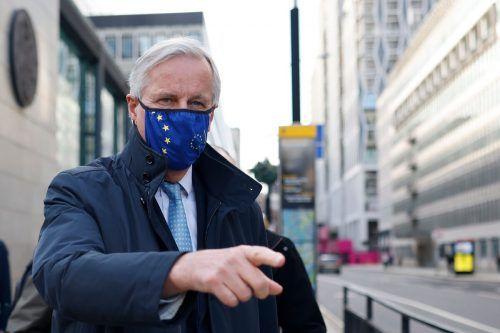Der Chefverhandler der EU, Michel Barnier, wollte für direkte Gespräche mit seinem britischen Gegenüber David Frost wieder nach London reisen. AFP