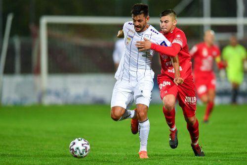 Der Ex-Altacher Darijo Pecirep schoss Austria Klagenfurt ins Cupviertelfinale.gepa