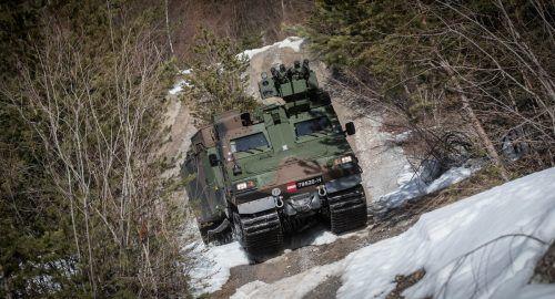 Der Hägglund multipliziert die Fähigkeiten des Heeres in Vorarlberg.APA