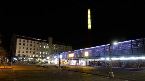"""Der Leuchtturm beim Lünerseepark wird die Botschaft """"Orange the World"""" in die Region morsen.VN/JS"""