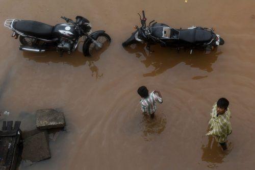 Der Wirbelsturm hat massive Überschwemmungen verursacht. AFP