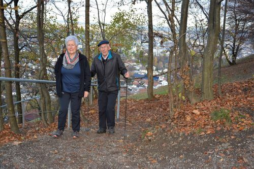 Der Zanzenberg ist auch beim Lockdown ein beliebter Ausgangspunkt für einen Spaziergang. EH