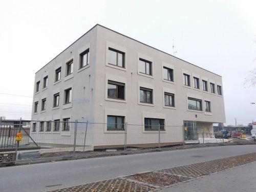 Das neue Polizeigebäude am Dornbirner Bahnhof steht kurz vor der Fertigstellung. mima