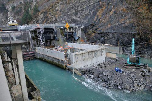 Die beiden Tosbecken des Kraftwerks werden für rund zwei Millionen Euro saniert. Stadtwerke Feldkirch