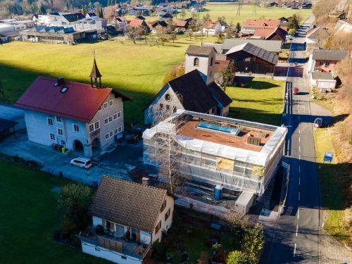 Die Bingser Zwergenvilla ist bereits groß geworden und in die Höhe gewachsen.VN/Lerch