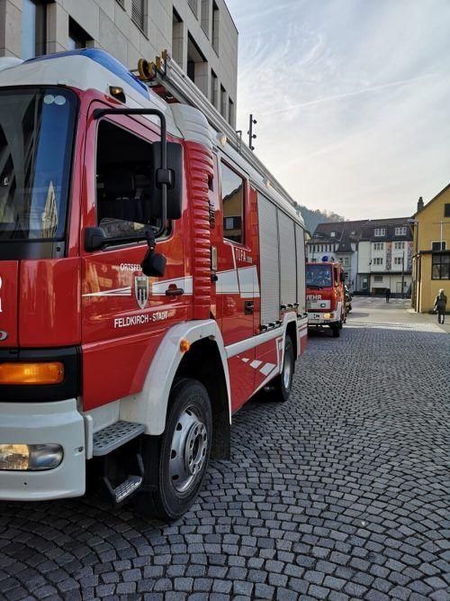 Die Feuerwehren Feldkirch-Stadt und Tosters rückten aus. Fw Feldkirch-Stadt