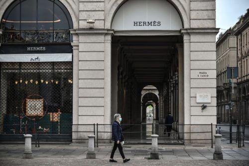 Die Geschäfte am Markusplatz sind zum Großteil geschlossen. AFP