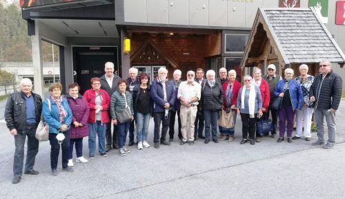 Die Götzner Pensionisten bei einer kleinen Kaffeepause in Pettneu.PVÖ OG Götzis