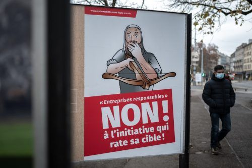 Die Initiative für ein Verbot der Finanzierung von Kriegsmaterialproduzenten scheiterte am Sonntag.AFP