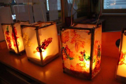 Die Laternen leuchteten heuer auch im Kindergarten Gantschier.Kindergarten