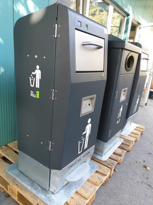 Die solarbetriebenen Abfallpresscontainer wurden auch schon in Wien aufgestellt. rewin