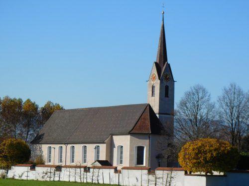 Die Türen der Pfarrkirche Mäder sind tagsüber für eine stille Andacht geöffnet.Mäser