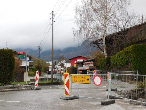 Die umfangreichen Arbeiten in der Konstanzerstraße bringen Verkehrsbehinderungen mit sich. Mäser