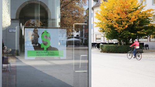 """Die Video-Arbeit """"Perfect Leader"""" der US-amerikanischen Künstlerin Max Almy ist im Schaufenster beim Kunsthaus Bregenz zu sehen. kub"""