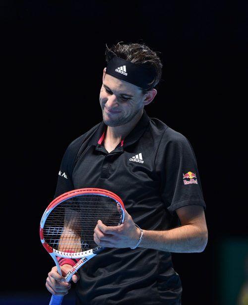 Dominic Thiem verpasste gegen Rublew seinen 300. Sieg auf der ATP-Tour.AFP
