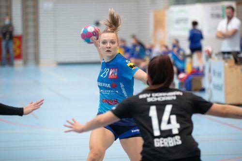 Elisabeth Schneider war mit acht Treffern Topskorerin von Feldkirch.VN/Sams