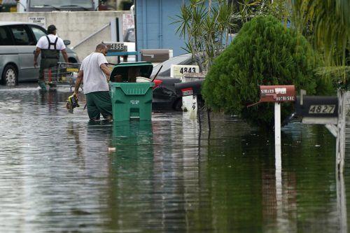 """""""Eta"""" hat in Florida bereits teils heftige Überschwemmungen verursacht. AP"""