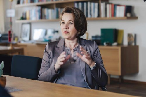 Verbandspräsidentin Kaufmann freut sich über die Soforthilfe.VN