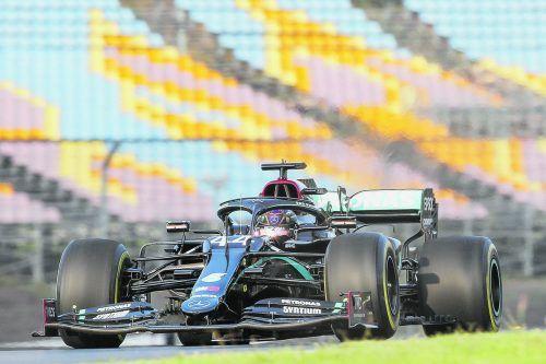 Für den WM-Titel muss Lewis Hamilton nach dem Grand Prix in Istanbul mit mindestens 78 Zähler Abstand nach Hause fahren. apa