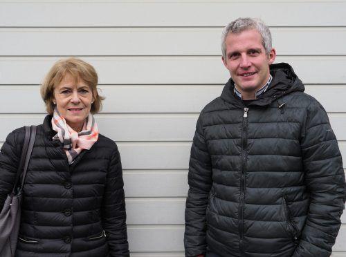Gabriela Dür und der Dornbirner Rotary-Präsident Matthias Moosbrugger.