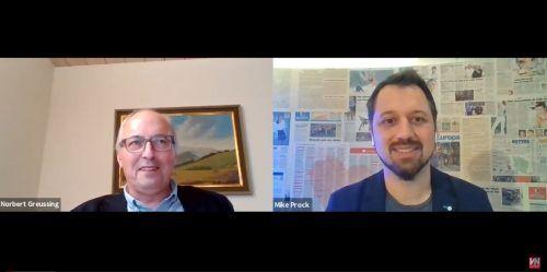Gemeindechef Norbert Greussing stellte sich den Fragen von VN-Redakteur Michael Prock. Vn/Screenshot