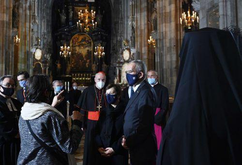 Gottesdienst im Stephansdom: Politik- und Religionsvertreter beteten für die Opfer. APA