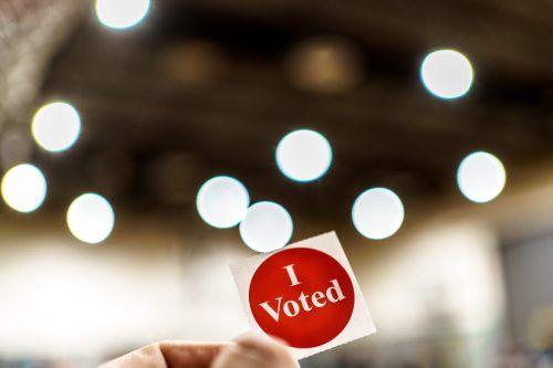 """""""Ich habe gewählt"""" ist auf diesem Sticker zu lesen. AFP"""
