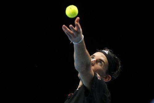 Im Vorjahr bezwang Dominic Thiem in der Gruppenphase Novak Djokovic in einer hochklassigen Partie mit 6:7, 6:3 und 7:6. AFP