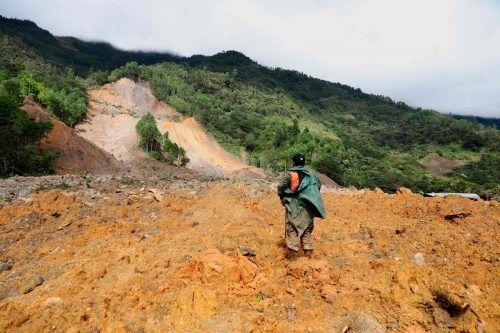 In Guatemala starben über 100 Menschen bei einem Erdrutsch. AFP