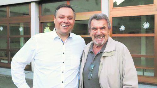 Jürgen Blacha , neuer Ortsvorsteher von Fellengatter, mit seinem Vorgänger Luis Neyer.Marktgemeinde